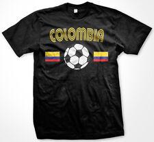 Colombia Columbian Flag World Cup Soccer Ball Olympics Sports Retro Mens T-Shirt