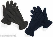Delta Plus Panoply Neve Mens Winter Polar Fleece Cold Weather Gloves Blue Black