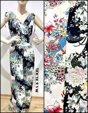 Damenjumpsuit, Overall, Einteiler, Blumenmuster, Größe M-L, XL-XXL, Viskose,Blau