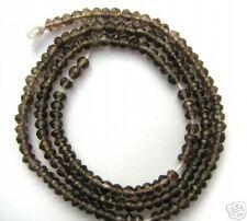 3MM Smoky Smokey Quartz Rondells Beads Drops 23