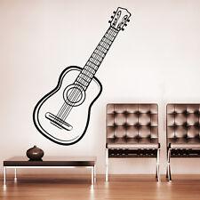 10565 Wandtattoo Loft Wandaufkleber Gitarre Noten Musik Instrument Akkustik