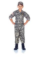 CHILD KIDS US ARMY CAMO CAMOUFLAGE SOLDIER MILITARY MARINE BOY COSTUME UNIFORM