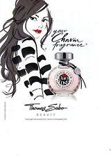 PUBLICITE ADVERTISING  2011  THOMAS SABO parfum FRAGANCE CHARM