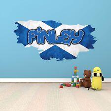 Personalizado Bandera Escocesa Grafiti Infantil Pegatina Mural Adhesivo