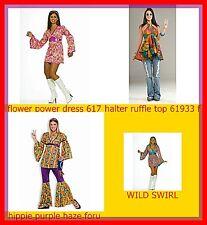 WOMANS COSTUMES60's 70's HippieS DRESS PURPLE HAZE HIPPIE FLOWER POWER@MOREEEEE
