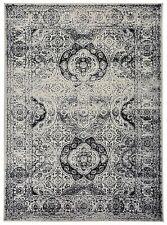 Oriental Vintage Persian Aubusson Grey Ivory Area Rug 5' Round, 5'x7', 8'x10'