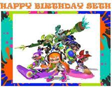 Splatoon Party Edible image Cake topper
