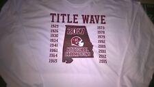 2017 Alabama Crimson Tide Football National Champions Title Wave T-shirt