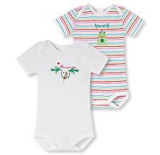 SCHIESSER Baby Body Papagei Doppelpack Gr 68-104 Bodies Halbarm 100% CO NEU