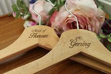 Vestido boda Grabado De Madera Percha Texto Personalizado