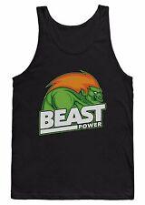 Chaleco de alimentación bestia camiseta Blanka Street Fighter Culturismo Levantamiento de Pesas Gimnasio