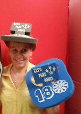 Darts 180  Foam Visor Hat Packs Of 5