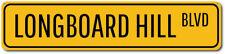 Longboard Hill Blvd Sign, Custom Beach Street Sign, Ocean Lover ENSA1002167