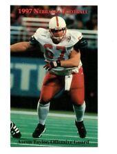 1997 Nebraska Cornhuskers Football Pocket Schedule VB cards -> You Pick 'em