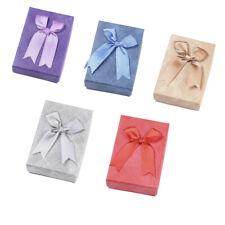 24pcs Rectangle Jewelry Necklace Pendants Boxes Sponge Packing Case 9.35x6.3x3cm