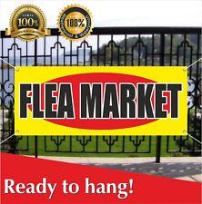 Flea Market Banner Vinyl / Mesh Banner Sign Flag Many Sizes Discount