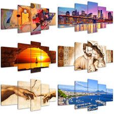 Quadri Moderni 5 pz. cm 200x90 Varie Immagini Stampa su tela Canvas Arredo Casa