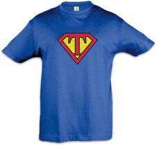 Super T Kinder Jungen T-Shirt Buchstabe Vatertag Muttertag Comic Geschenkidee