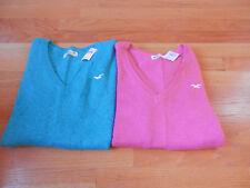 NWT Hollister V Neck Sweater Blue or Pink Medium