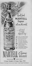 1951 Martell Cognac Brandy Vintage Bottle PRINT AD