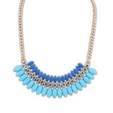 Woman's Fashion Necklace Statement  Collar Multi Color Blue Pink   Rhinestone