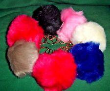 """Cute Soft  Fur Ball Fluffy Pom-Pom Key Chain Ring Handbag Car accessories 3 ½"""""""