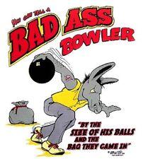 BAD ASS JACK ASS BOWLER BOWLING BALL FUNNY T-SHIRT BA4