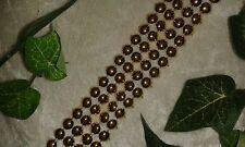 Perlenband Pailettenband Tischband Deko Kunststoff silber gold 0,5 / 1 m Länge 3