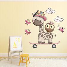 Leuke Giraf & Uil Muursticker WS-41335