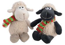 Super Doux Mouton avec Écharpe Jouet Noir Blanc Enfants Comédie