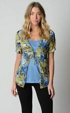 Millers Ladies Short Sleeve Crinkle Top sizes 12 14 18 Multi Colour