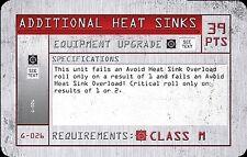 MechWarrior Age of destruction carta-g-026 Additional heat sinks