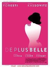 DE PLUS BELLE Affiche Cinéma / Movie Poster FLORENCE FORESTI Mathieu Kassovitz