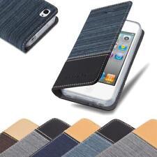 Handy Hülle für Apple iPhone 4 / iPhone 4S Cover Case Tasche Etui Jeans Stoff