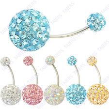 Swarovski Crystal Disco Ball Ferido Belly Bar Fashion Earrings