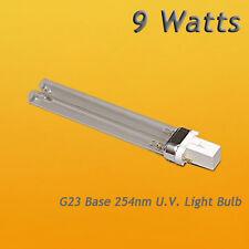 9 Watt Germicidal UV Bulb G23 Base 9W JEBAO SUNSUN JEBO