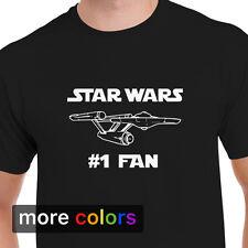 STAR WARS #1 FAN Mens T-shirt, Star Trek NCC-1701 Starship Enterprise Tee