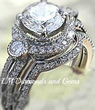 Cz Wedding Sets.14k White Gold Cz Wedding Sets Products For Sale Ebay