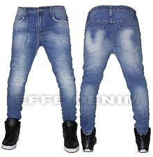 Vaqueros de hombre Mezclilla azul cielo ceñido pantalones Chándal eslásticos