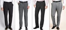 Mens Formal Trousers Single Pleat Easycare Active Waistband Regular Tall Short