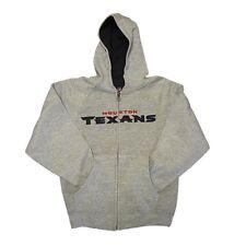 New Boy's NFL Houston Texans Hoody Sweatshirt Toddler 2T-4T Gray Zipper