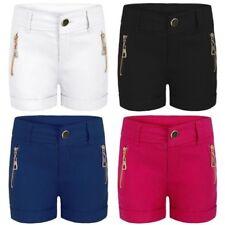 Niña Elástico Color Pantalones cortos Rollo Dobladillo Mezcla De Algodón moderno