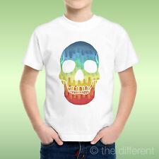T-Shirt bébé Garçon Tete De Mort Multicolore Idée Cadeau