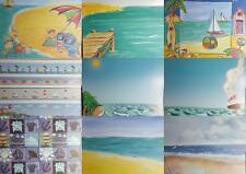"12""X12"" Scrapbook Paper Themes - Beach Seaside Summer Boat Shells Ocean Water"