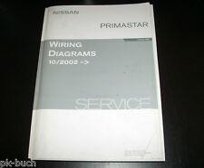 Manuale D'officina Workshop Impianto Elettrico Schemi Nissan Primastar 10-2002