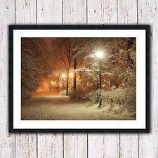 Foto incorniciata Scena Invernale Stampa RISCALDAMENTO CASA NATURALE carattere stagionale neve