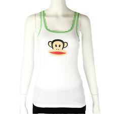 Paul Frank Julius & Friends $33 White Green Lace Pajama Sleep PJ Tank Top NWT