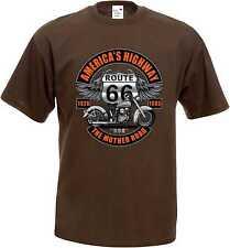 Camiseta marrón Vintage Biker HD Chopper- y OldSchoolmotiv Modelo Route  Color