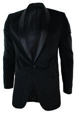 Men's Party Wear Black Color One Button Velvet Blazer Jacket
