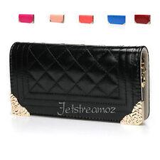 New Lady Leather Wallet Pouch Purse Zip Rose Pink Black Blue Orange